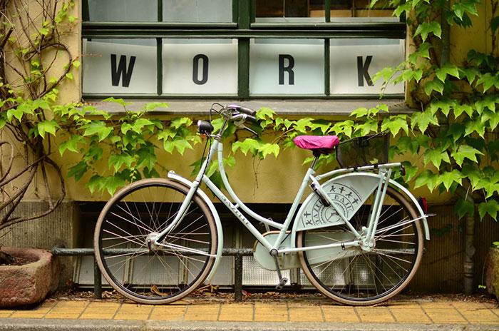 Earth month, bike to work